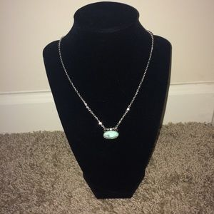 Jewelry - Small Marble Stone Charm Chain Necklace